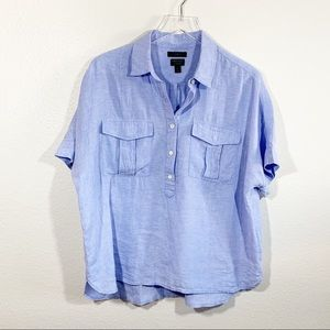 J. Crew Baird Mc Nuitt Irish linen shirt